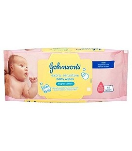 LINGETTES POUR BEBES EXTRA SENSITIVE JOHNSON'S