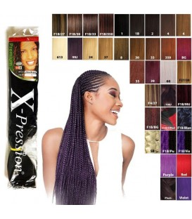Mèches X pression Ultra Braid couleur 1B SENSATIONNEL