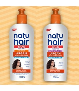 Kit Shampoo & Conditioner Argan Oil 600ml NATUHAIR