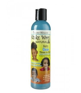 "SHAMPOOING 3N1 ""KINKY WAVY NATURAL"" MYRTILLE ET CAMOMILLE 170ML TALIAH WAAJID"