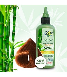 COLORATION SEMI PERMANENTE AU BAMBOU 104ML ACAJOU SILICON MIX