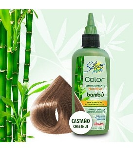 "COLORATION ""CHATAIN"" SEMI PERMANENTE AU BAMBOU 104ML SILICON MIX"